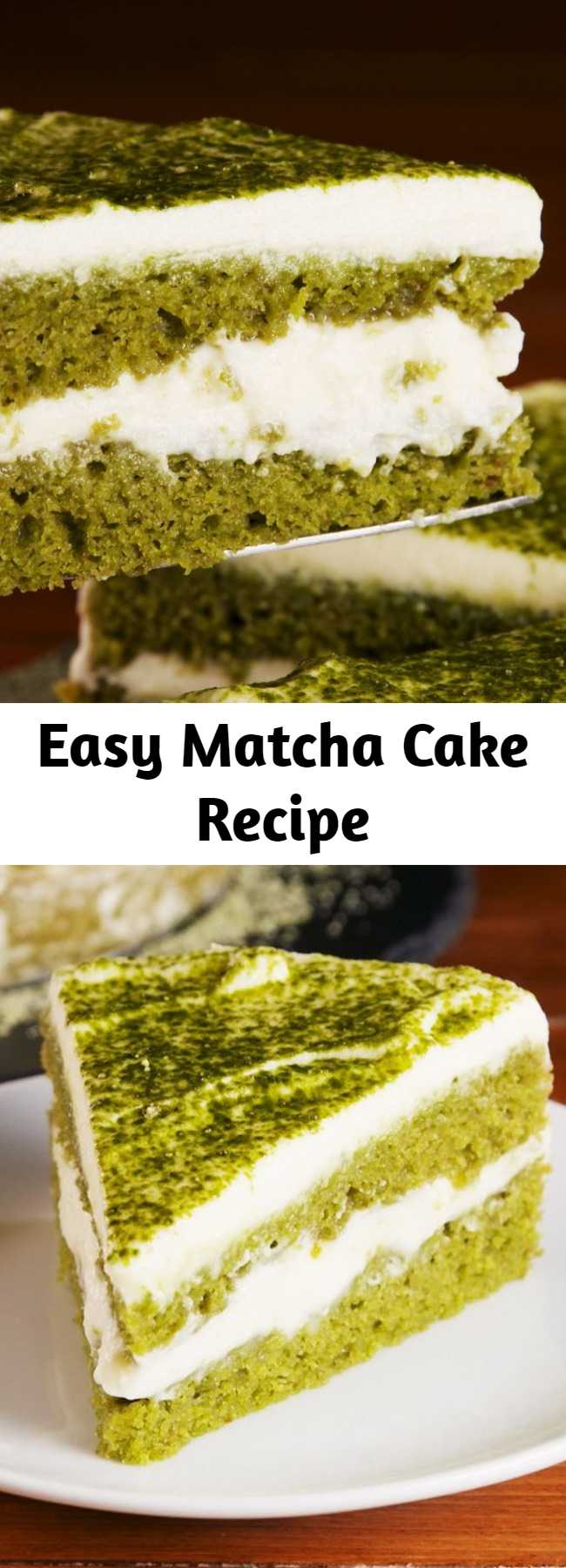 Easy Matcha Cake Recipe - Green Tea Lovers are going to be obsessed with how light this matcha cake and its accompanying frosting are. Here are our best tips when making this easy recipe!