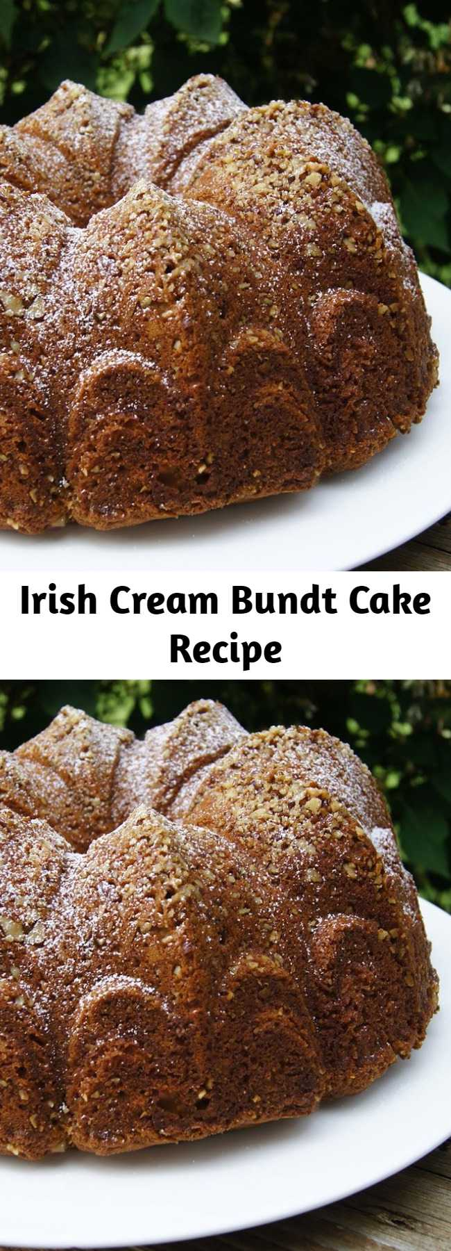Irish Cream Bundt Cake Recipe - Great tasting glazed Bundt cake with Irish cream baked in. Excellent for any time or any occasion.