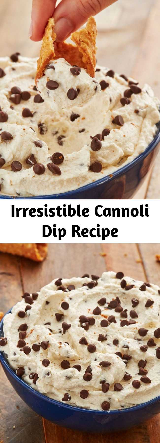 Irresistible Cannoli Dip Recipe - Holy cannoli, this dip is delicious! Here's how to make this easy and quick dessert dip for any holiday party.