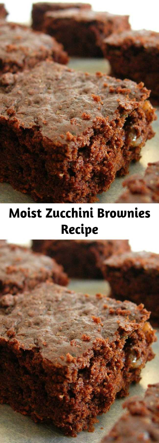 Moist Zucchini Brownies Recipe - Moist chocolate brownies with frosting!