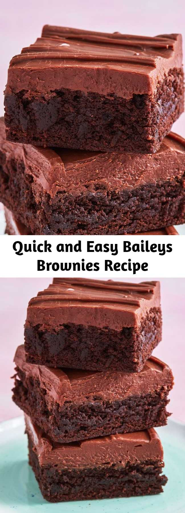 Quick and Easy Baileys Brownies Recipe - These brownies are something special. Give boxed brownie mix a major upgrade with this easy recipe for the best Bailey's brownies.