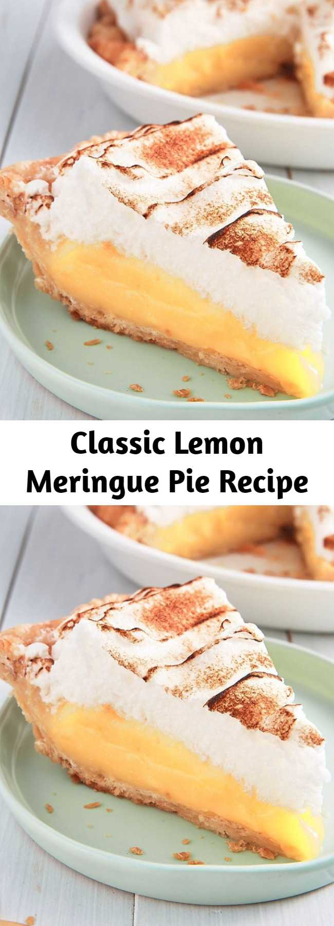 Classic Lemon Meringue Pie Recipe - This Lemon Meringue Pie uses both lemon zest and juice to strike the perfect balance between sweet and tart, plus it has a showstopping meringue topping.