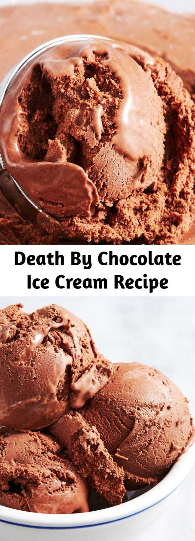 Death By Chocolate Ice Cream Recipe - Forget the freezer aisle and try your hand at homemade Chocolate Ice Cream with this recipe.