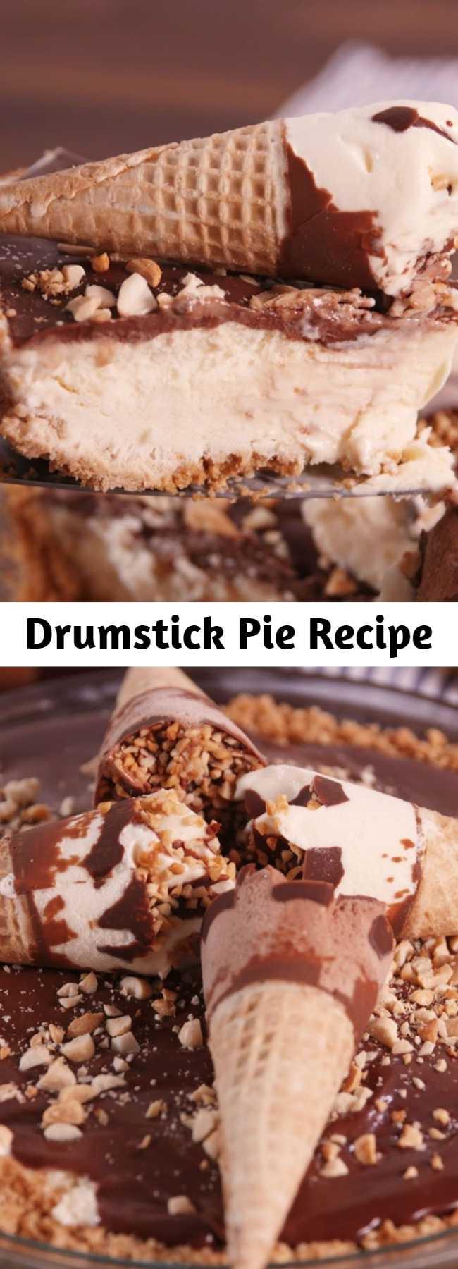 Drumstick Pie Recipe - The sugar cone crust on this Drumstick pie is pure genius. Never sick of Drumsticks.