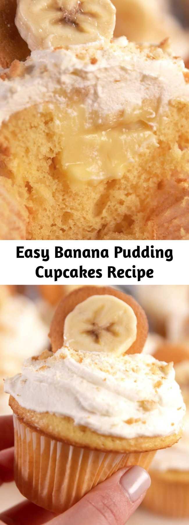 Easy Banana Pudding Cupcakes Recipe - Check out this easy recipe for adorable banana pudding cupcakes. Banana pudding lovers rejoice!