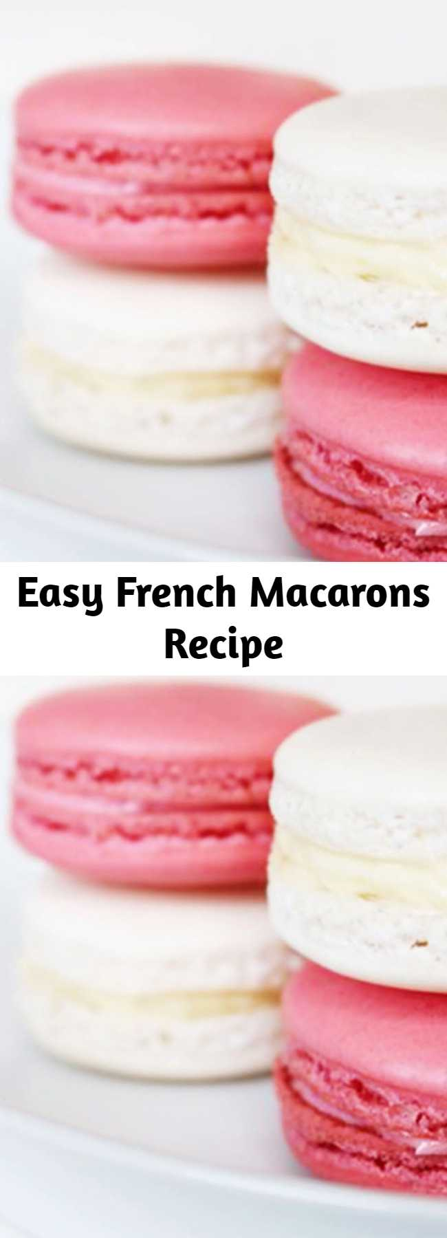 Easy French Macarons Recipe - These charming little cookies have become a total dessert craze thanks to our French friends across the pond. Macarons are a sugary and delicious treat perfect for tea parties, bridal showers, and basically any festive occasion you can think of. Don't be intimidated by their seemingly difficult recipe requirements, because our guide to baking and assembling the basic French macaron is fool proof!