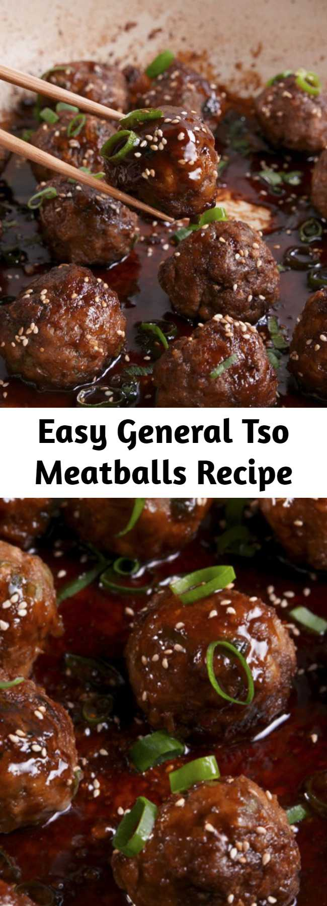 Easy General Tso Meatballs Recipe - Skip the takeout and create your own version as a meatball. #food #easyrecipe #dinner #familydinner #ideas