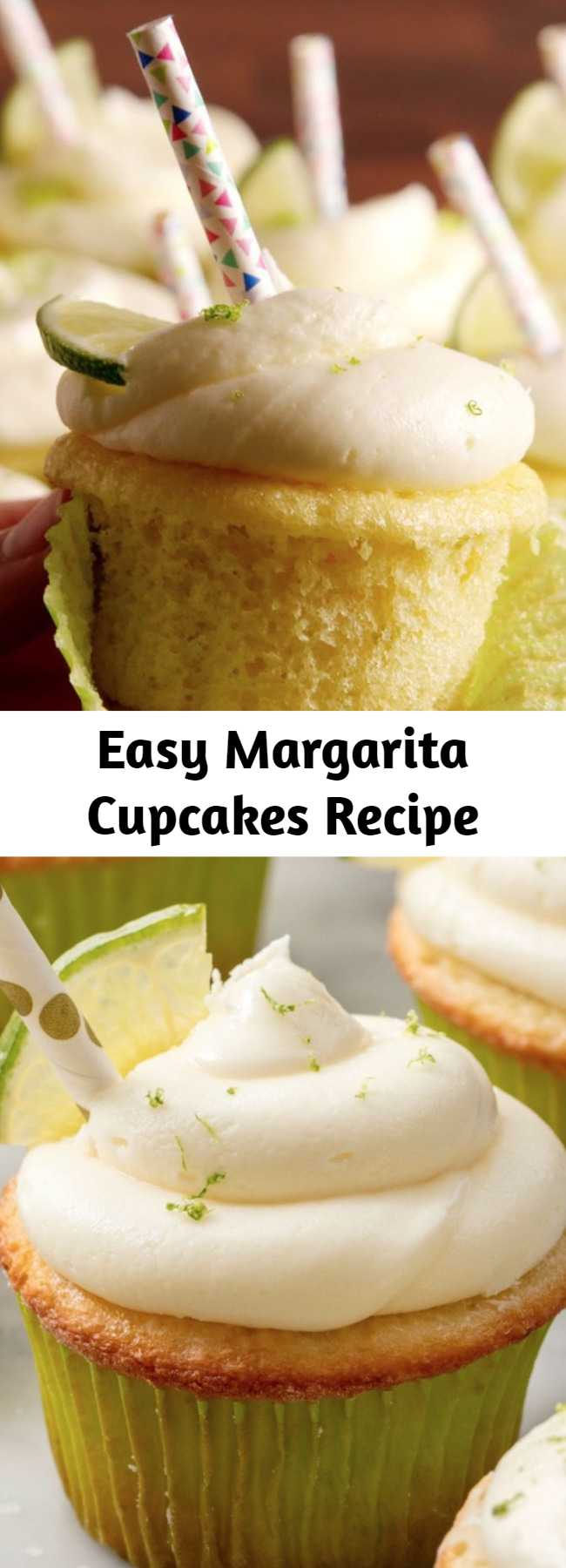 Easy Margarita Cupcakes Recipe - Check out this easy recipe for the best margarita cupcakes! Everything's better in cupcake form!