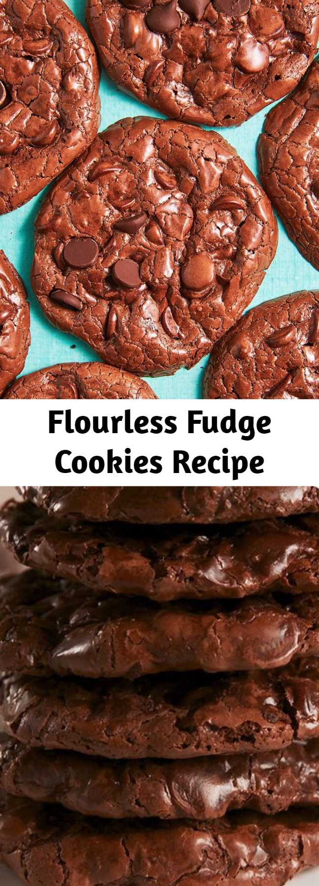 Flourless Fudge Cookies Recipe - These delicious cookies don't have any flour or butter but are still amazing. If she loves flourless cake, these cookies will be a new favorite.