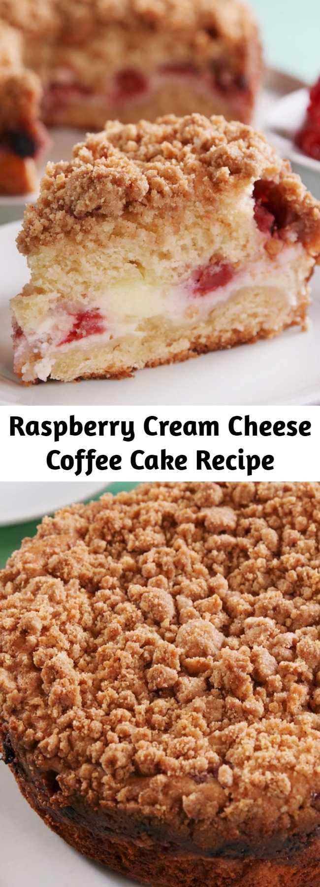 Raspberry Cream Cheese Coffee Cake Recipe - This Raspberry Cream Cheese Coffee Cake is the only coffee cake recipe you'll ever need.