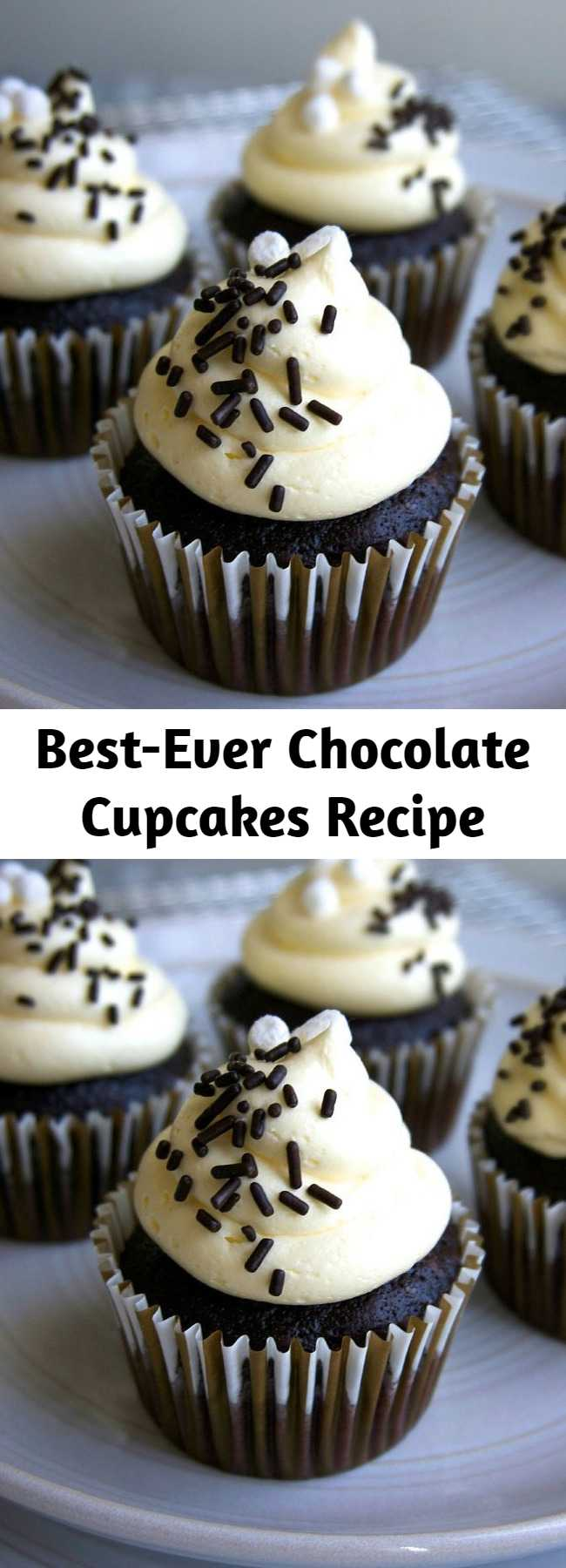 Best-Ever Chocolate Cupcakes Recipe - A simple, no-fuss chocolate cupcake that's intensely chocolate-y!