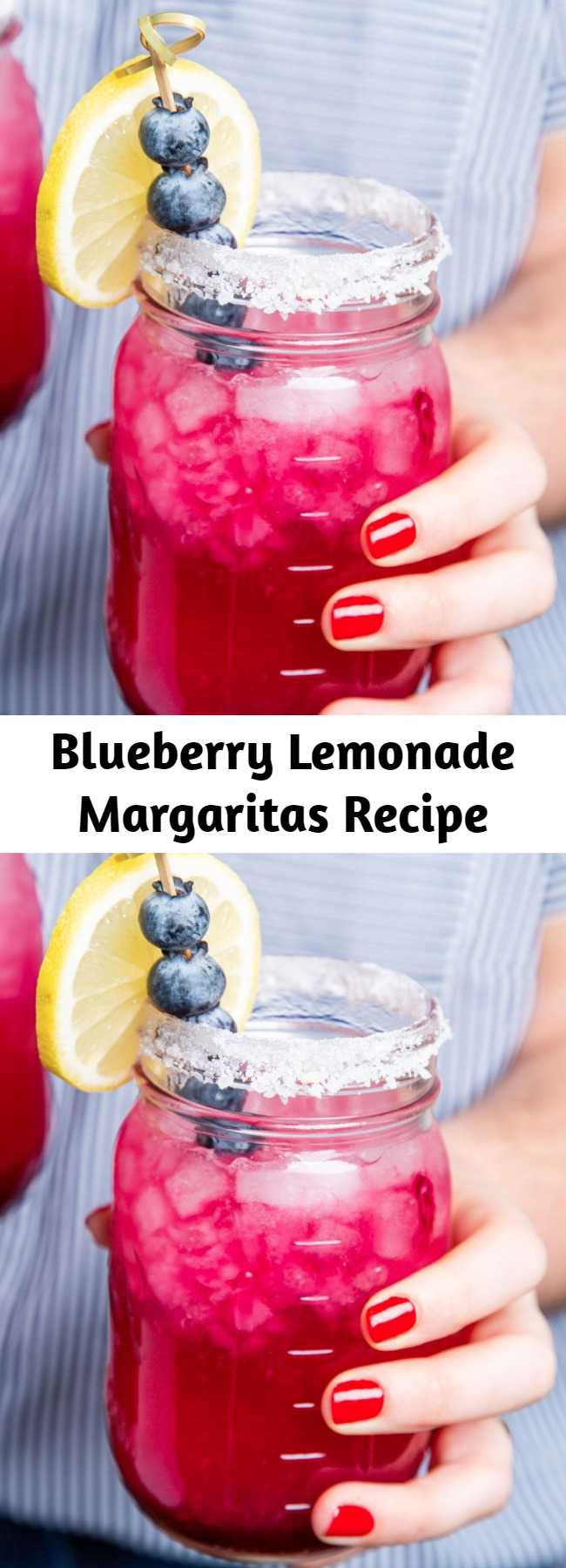 Blueberry Lemonade Margaritas Recipe - Seize the best of summer with these Blueberry Lemonade Margaritas. These refreshing (and beautiful) margaritas start with a homemade blueberry syrup.
