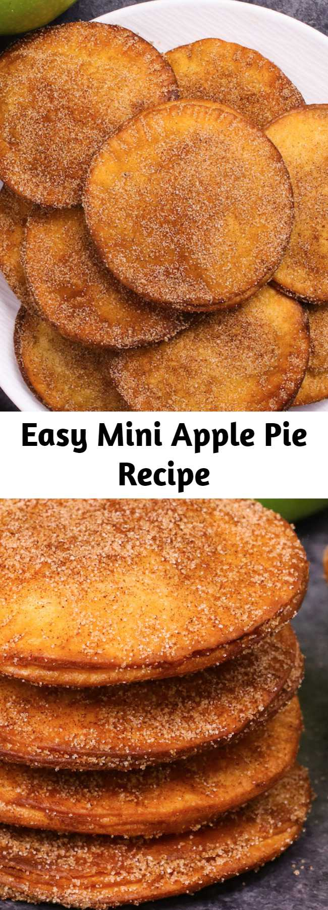 Easy Mini Apple Pie Recipe - Mini Apple Pies have sweet and soft filing with crispy pie on the outside. It's simple to make and takes less than 20 minutes. It's one of my favorite dessert recipes.