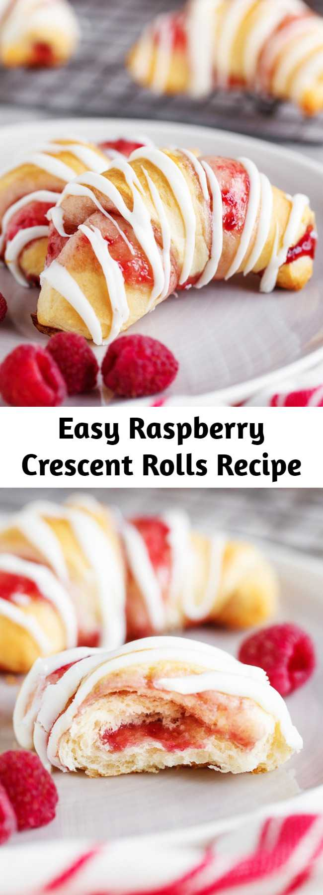 Easy Raspberry Crescent Rolls Recipe - Raspberry Crescent Rolls: a delicious sweet dessert that is quick to prepare and uses pre-made crescent rolls and delicious raspberry jam.