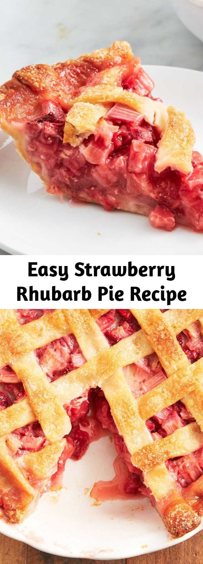 Easy Strawberry Rhubarb Pie Recipe - Strawberry rhubarb pie just got a lot easier!