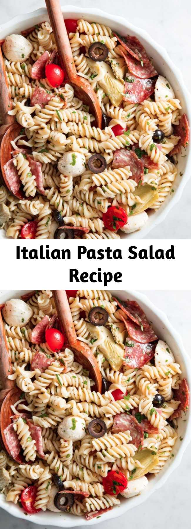 Italian Pasta Salad Recipe - This Italian Pasta Salad is the perfect dish to bring to your summer potluck.