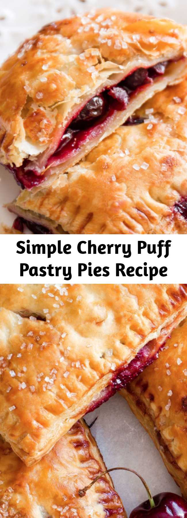 Simple Cherry Puff Pastry Pies Recipe
